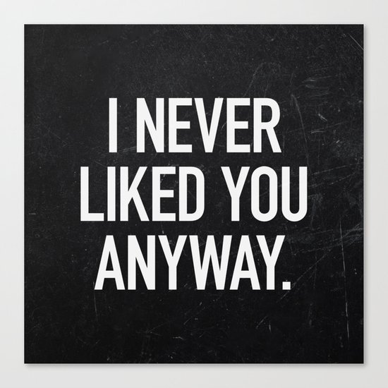 I Never Liked You Anyway Canvas Print