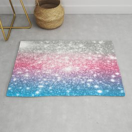 Galaxy Sparkle Stars Cotton Candy Rug