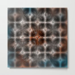 Dandelion Plasma Grid Metal Print