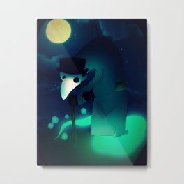 Plague Doctor Metal Print