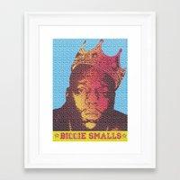 biggie smalls Framed Art Prints featuring Biggie Smalls by RDotA Grapfiks