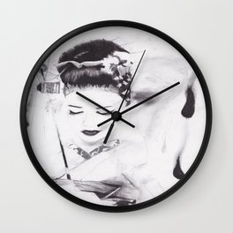 Face Full of Chocolate Wall Clock