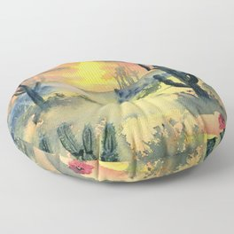 Desert Twilight Floor Pillow