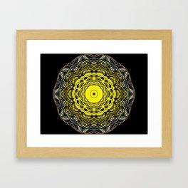 Yellow black design Framed Art Print