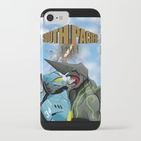 pacific rim iPhone & iPod Cases featuring South Pacific Rim by Kozmanaut