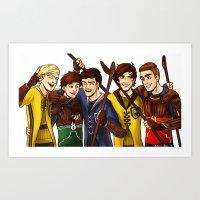 quidditch Art Prints featuring Quidditch by Plebnut