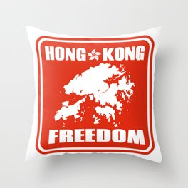Hong Kong Freedom Throw Pillow