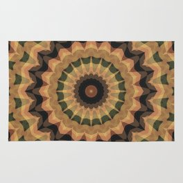 Ethnic ornament, kaleidoscope Rug