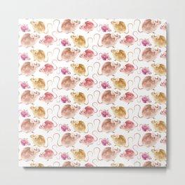 Little Mice Pattern Metal Print