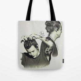 Harry Styles, Man Bun Tote Bag
