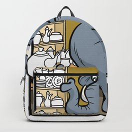 ELEPHANT IN CHINA SHOP bearish clumsy lubberly Backpack