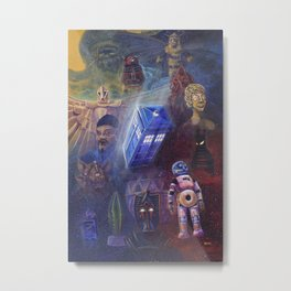 """13 in 50"" a Tribute to Doctor Who Metal Print"