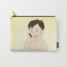 Getting an elated call from my two year old to tell me he went poop on the potty! By Priscilla Li Carry-All Pouch