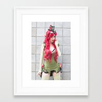 monika strigel Framed Art Prints featuring Monika Lee as Poison Ivy by Long Thai - mineralblu.com