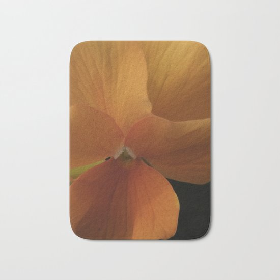 orange pansy Bath Mat