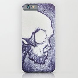 Light skull iPhone Case