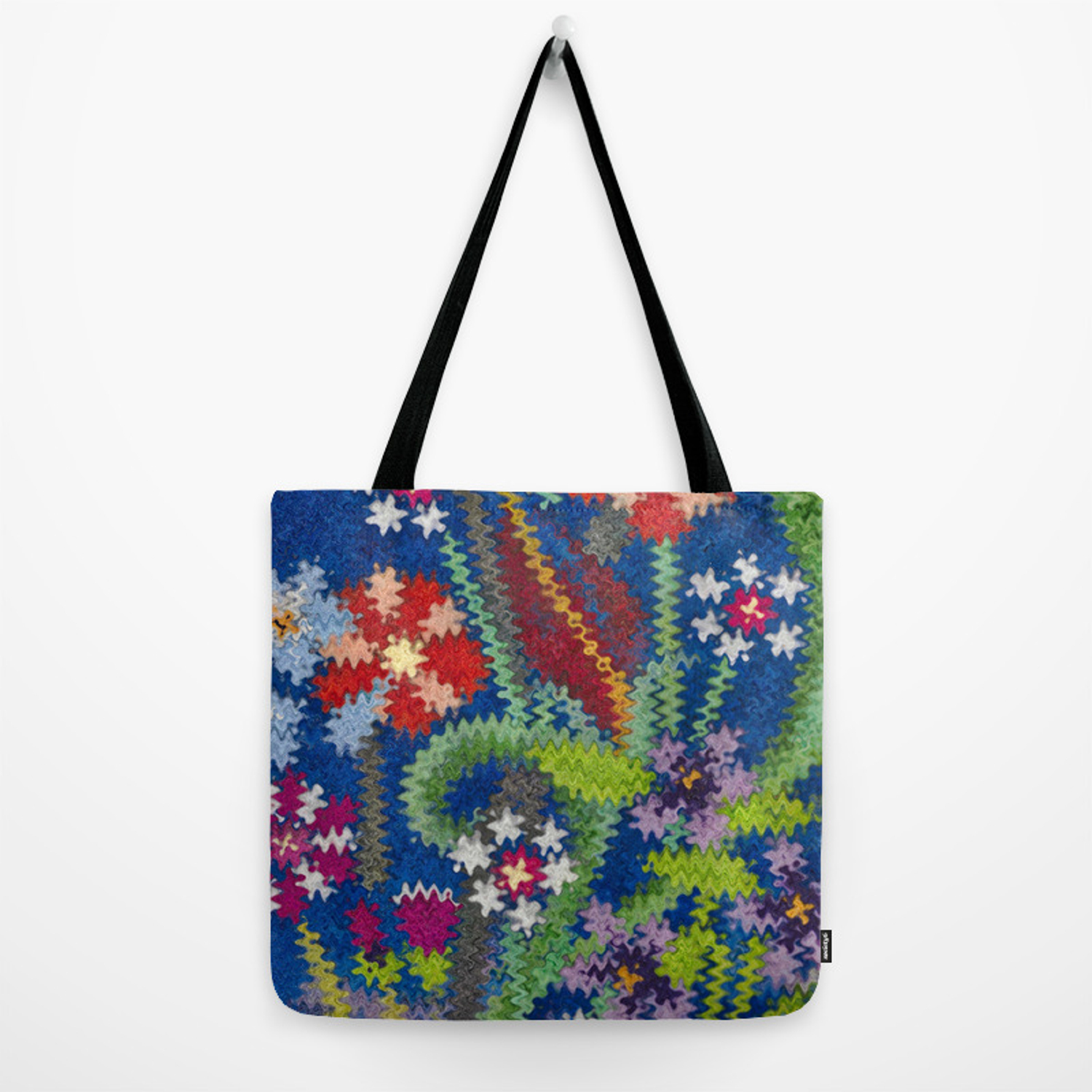 281bec3ef Starry Floral Felted Wool, Blue Tote Bag by alexandratarasoff | Society6