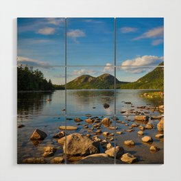 Jordan Pond In Acadia Wood Wall Art