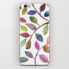 Colorful Leaves Watercolor iPhone Skin