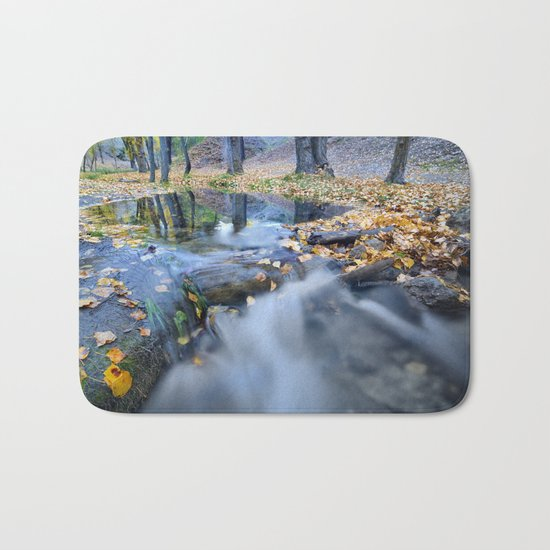 """""""White river"""" Into the woods Bath Mat"""
