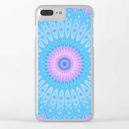 Winter Star Mandala Clear iPhone Case