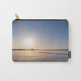 Clear Day on Snowy Lake Ice Carry-All Pouch