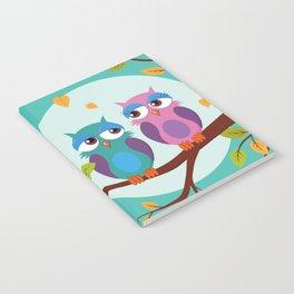 Sleepy owls in love Notebook