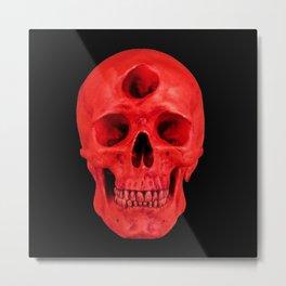 3rd Eye Contact (Red) Metal Print