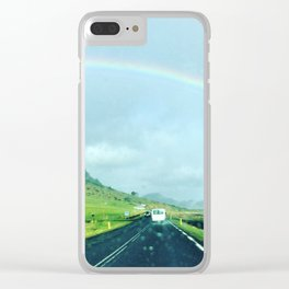 Rainbow Road Vik Iceland Clear iPhone Case