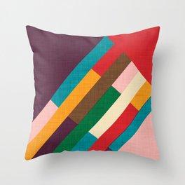 meridian purple Throw Pillow