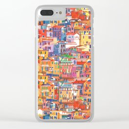 Seamless Cinque Terre Clear iPhone Case