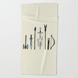 Fellowship of the arms Beach Towel