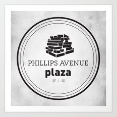 Phillips Avenue Plaza Art Print