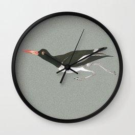 Oystercatcher on the run Wall Clock