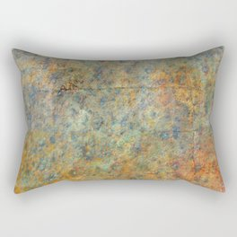 Blue and Copper Abstract Rectangular Pillow