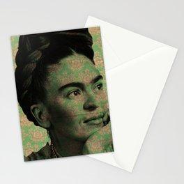 Green Frida Kahlo Stationery Cards