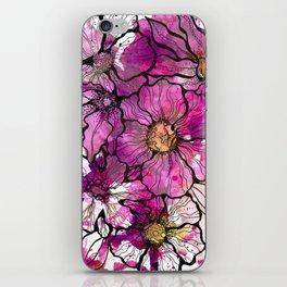 Magenta Flowers iPhone Skin