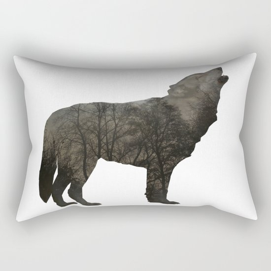 SOUL OF A WOLF Rectangular Pillow