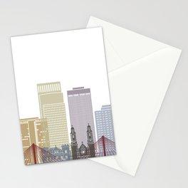 Omaha skyline poster Stationery Cards
