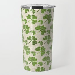 Irish Shamrock clover  pattern Travel Mug