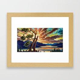 Inlet Sunset Framed Art Print