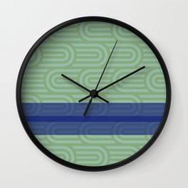 Rounded Green Wall Clock