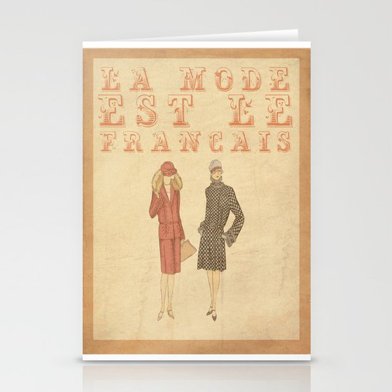 French Fashion Stationery Cards