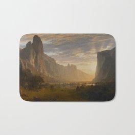 Looking Down Yosemite Valley, California Albert Bierstadt Bath Mat