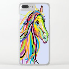 Horse of a Different Color Clear iPhone Case