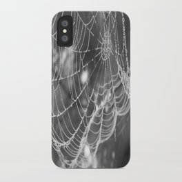 Web with dew drops iPhone Case