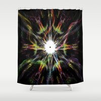rave Shower Curtains featuring Rave color by Angel Decuir