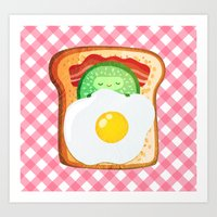 novelty Art Prints featuring Good morning by Anna Alekseeva kostolom3000