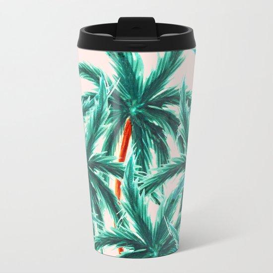 Coconut Trees #society6 #decor #buyart Metal Travel Mug