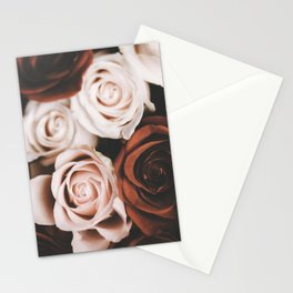 Mocca and Cream Roses Stationery Cards